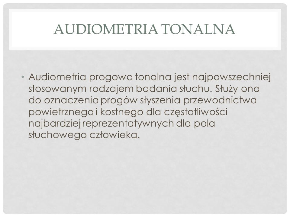 Audiometria tonalna