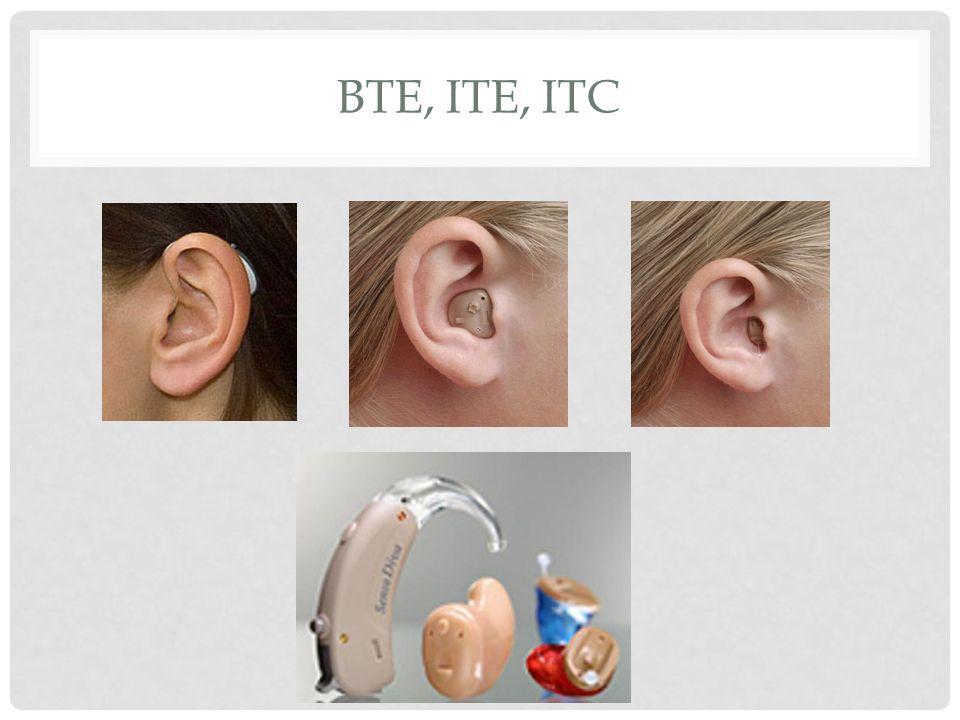 BTE, ITE, ITC