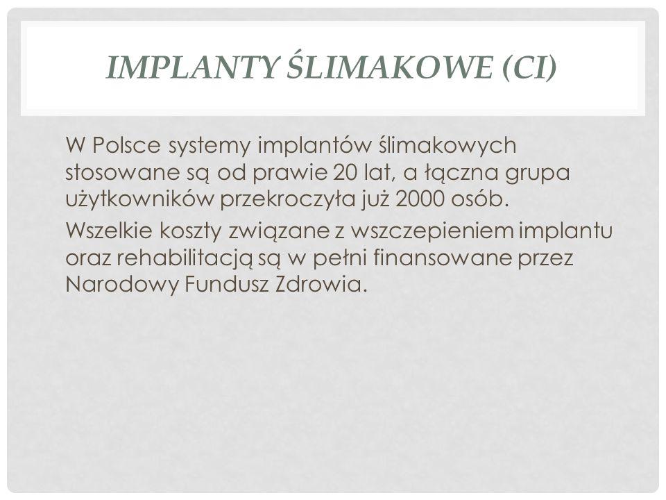 Implanty ślimakowe (CI)