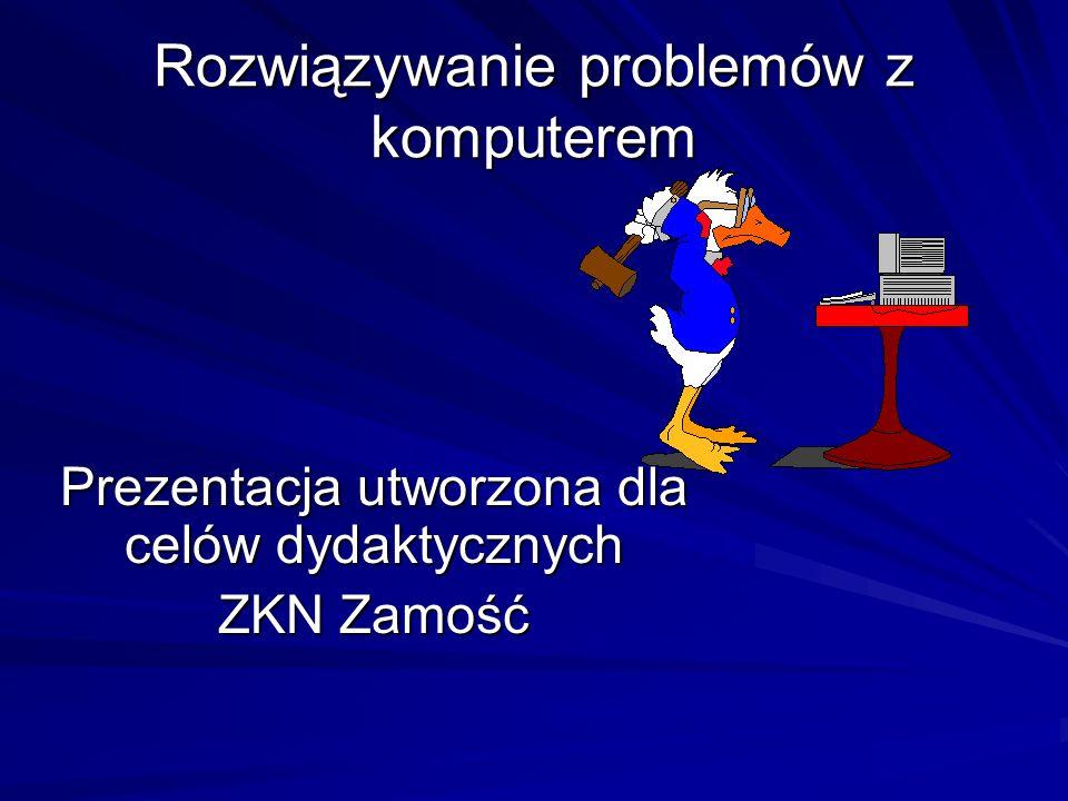 Rozwiązywanie problemów z komputerem