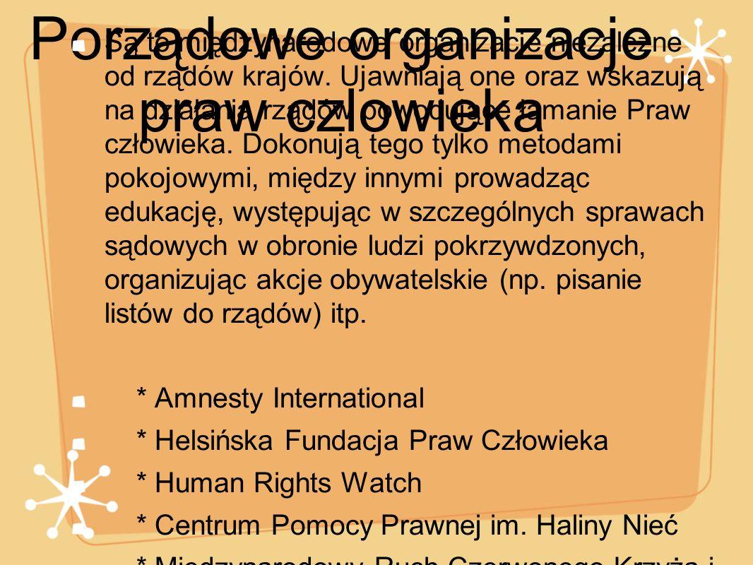 Porządowe organizacje praw czlowieka