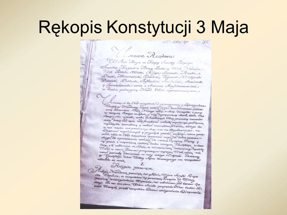 Rękopis Konstytucji 3 Maja