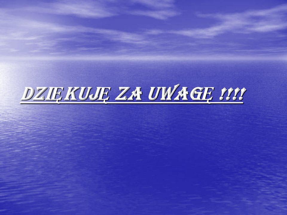 DZIĘKUJĘ ZA UWAGĘ !!!!