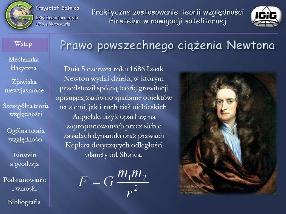 Prawo powszechnego ciążenia Newtona