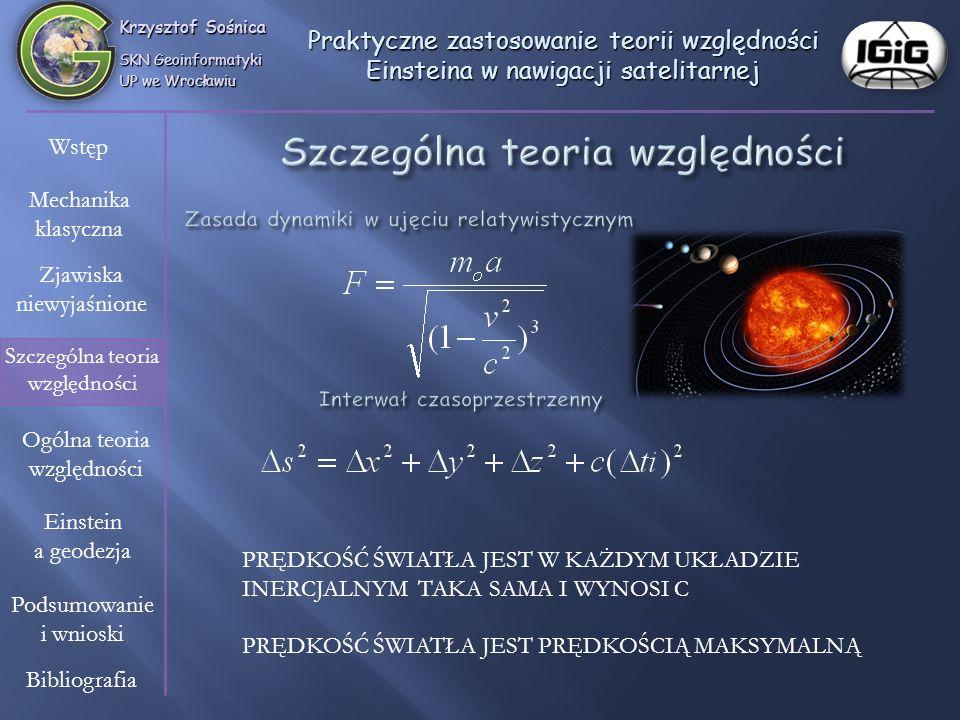 Szczególna teoria względności