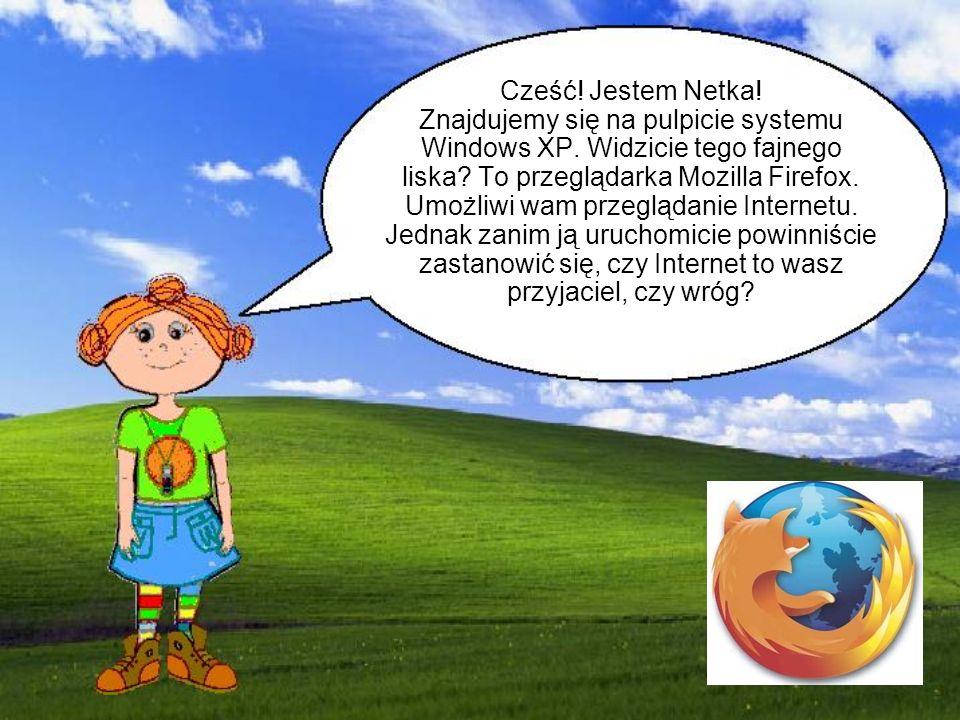 Cześć. Jestem Netka. Znajdujemy się na pulpicie systemu Windows XP