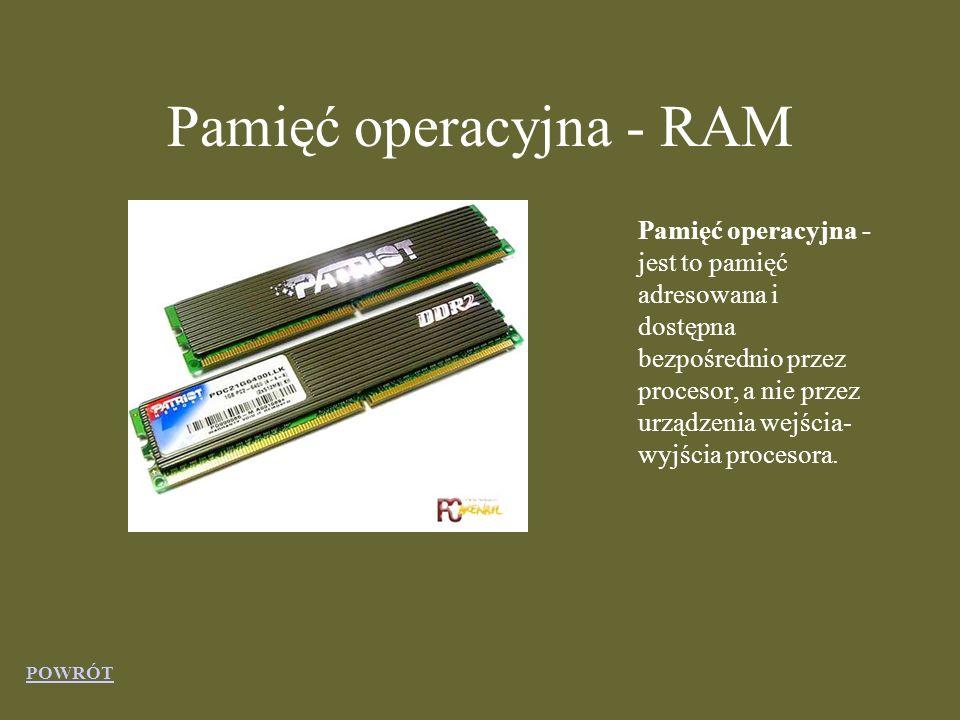 Pamięć operacyjna - RAM