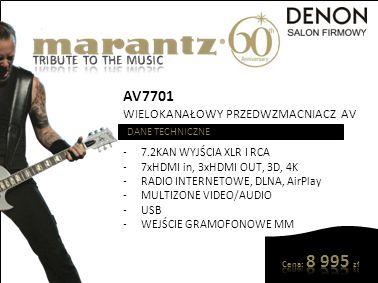 AV7701 TRIBUTE TO THE MUSIC WIELOKANAŁOWY PRZEDWZMACNIACZ AV