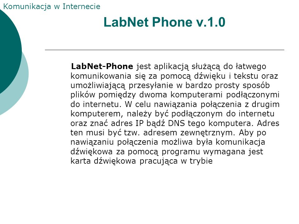 LabNet Phone v.1.0