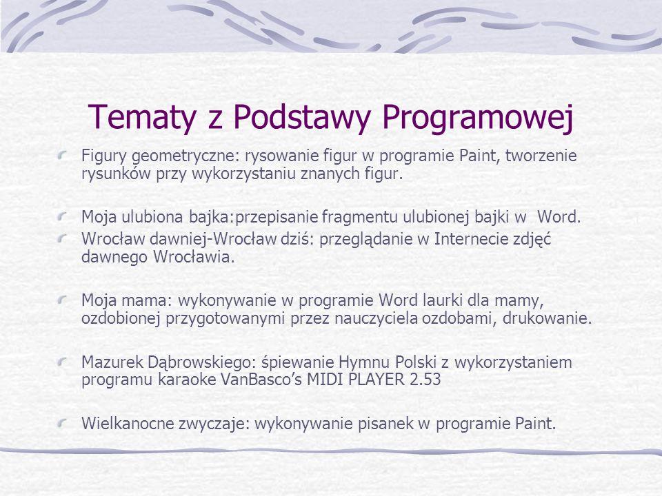 Tematy z Podstawy Programowej