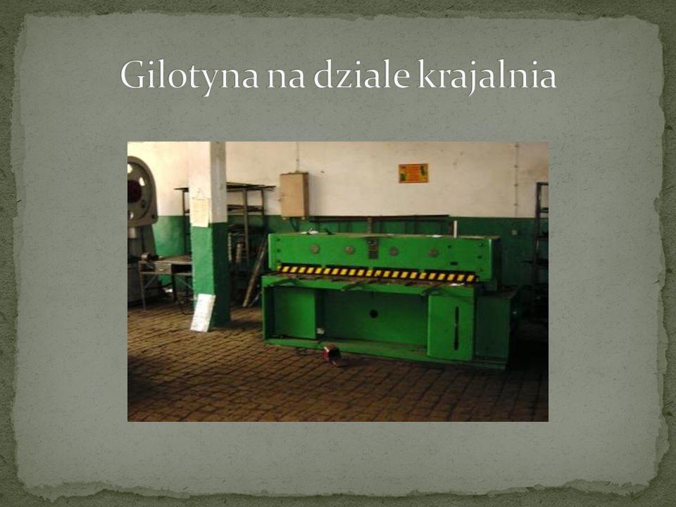 Gilotyna na dziale krajalnia