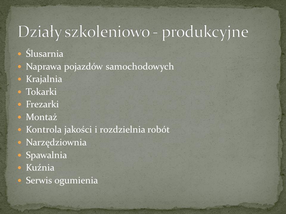 Działy szkoleniowo - produkcyjne