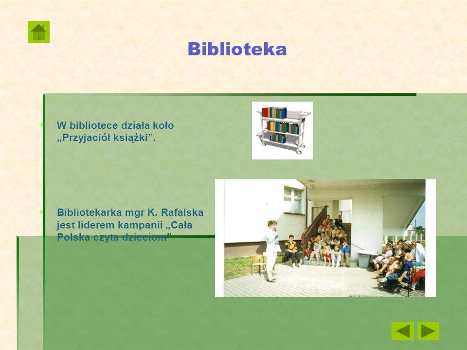 """Biblioteka W bibliotece działa koło """"Przyjaciół książki ."""