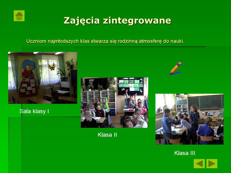 Uczniom najmłodszych klas stwarza się rodzinną atmosferę do nauki.