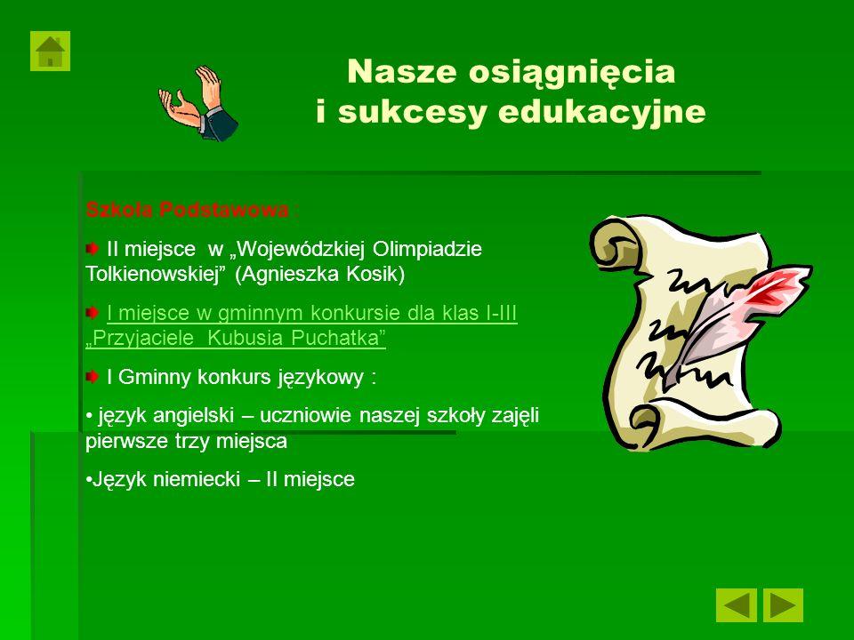 Nasze osiągnięcia i sukcesy edukacyjne