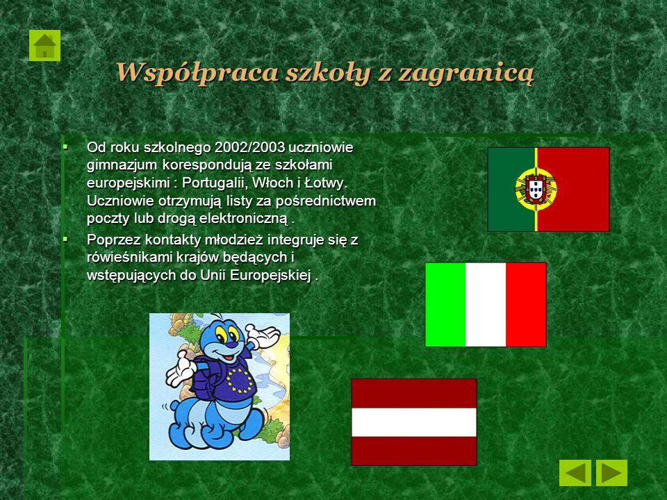 Współpraca szkoły z zagranicą