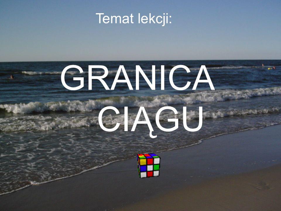 Temat lekcji: GRANICA CIĄGU