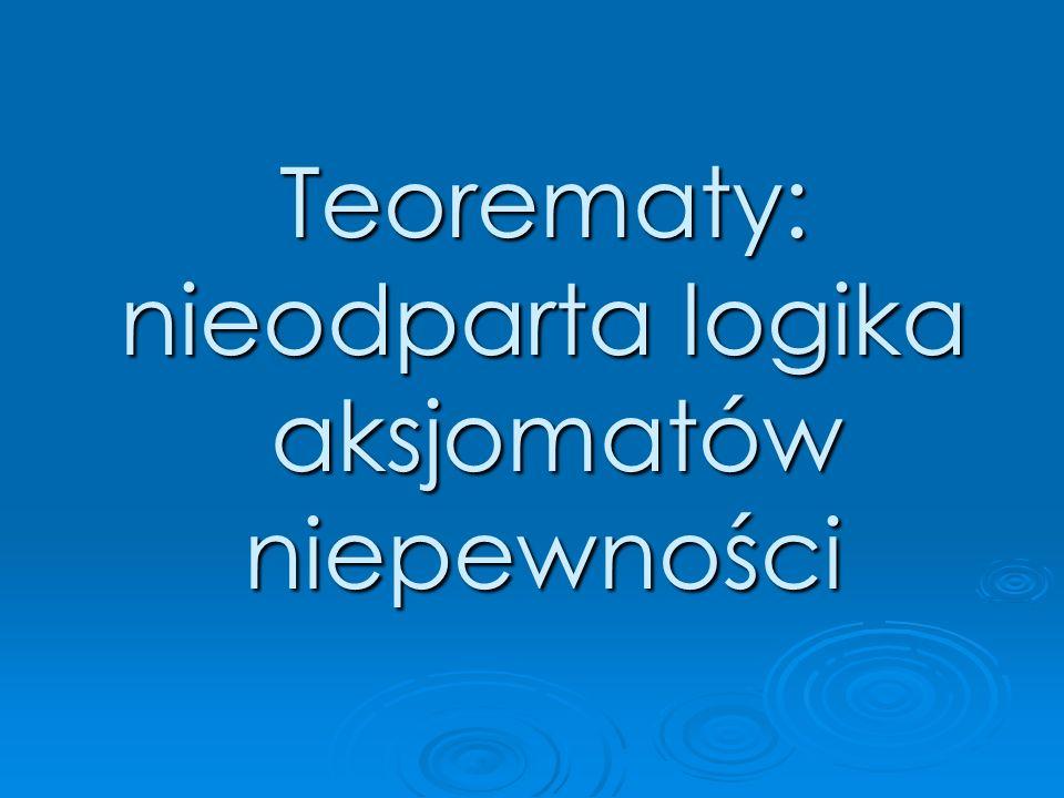 Teorematy: nieodparta logika aksjomatów niepewności