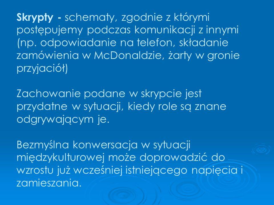 Skrypty - schematy, zgodnie z którymi