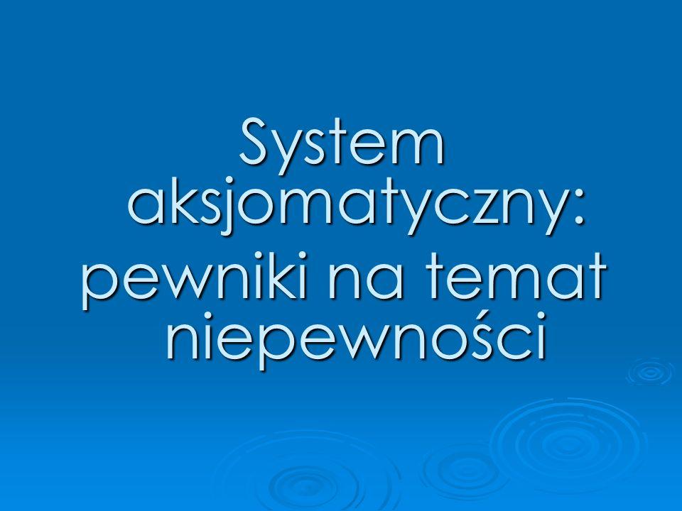 System aksjomatyczny: pewniki na temat niepewności