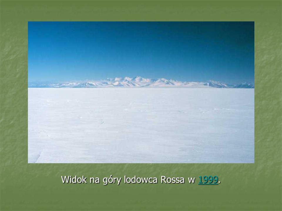 Widok na góry lodowca Rossa w 1999.