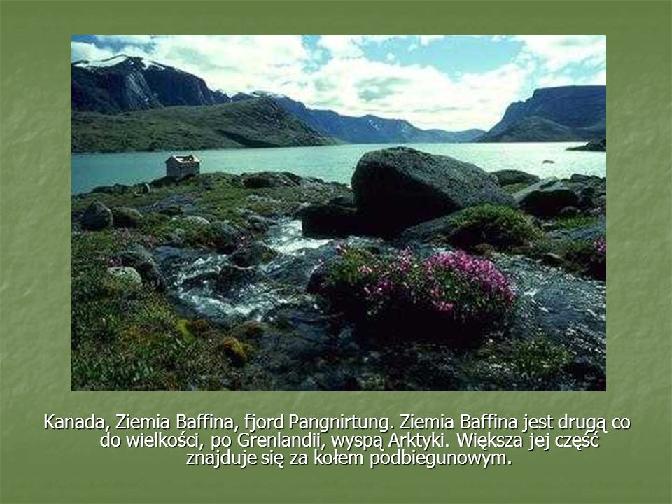 Kanada, Ziemia Baffina, fjord Pangnirtung