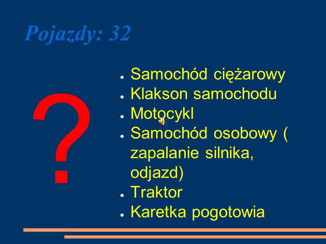 Pojazdy: 32 Samochód ciężarowy Klakson samochodu Motocykl