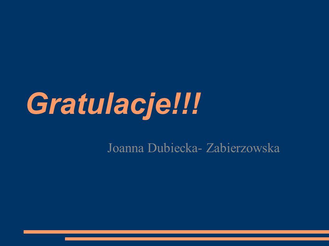 Joanna Dubiecka- Zabierzowska