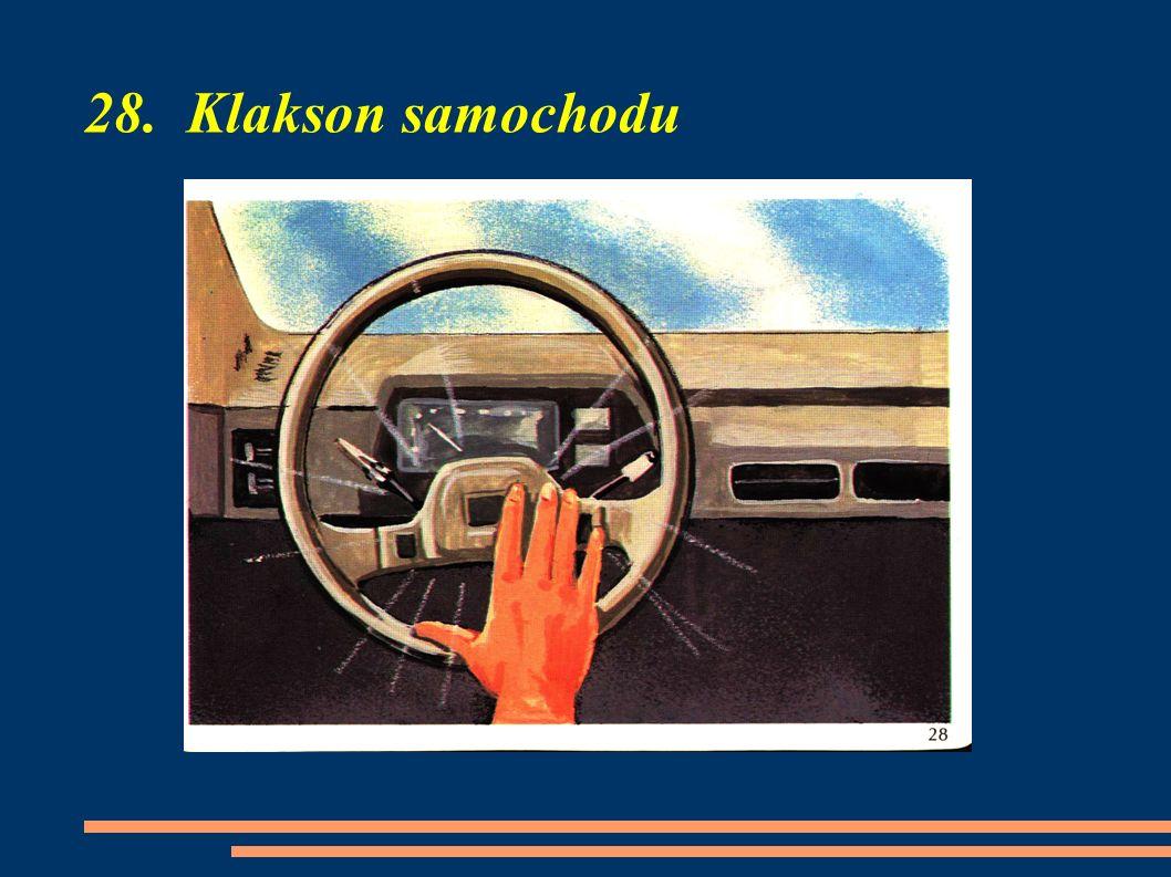 28. Klakson samochodu
