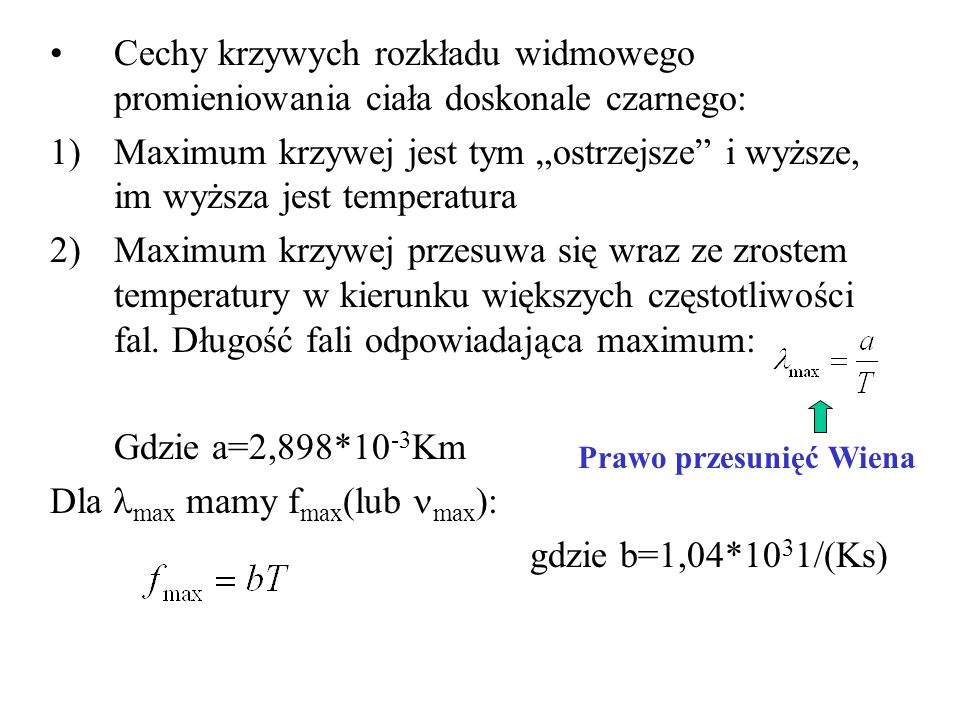 Dla lmax mamy fmax(lub nmax): gdzie b=1,04*1031/(Ks)