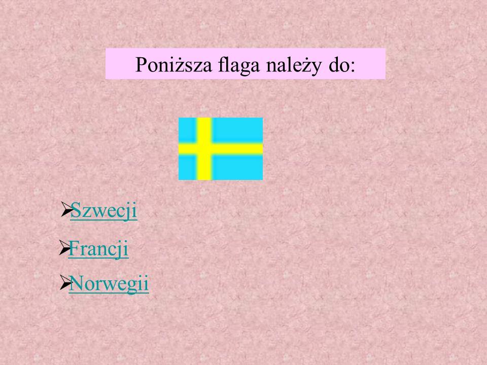 Poniższa flaga należy do: