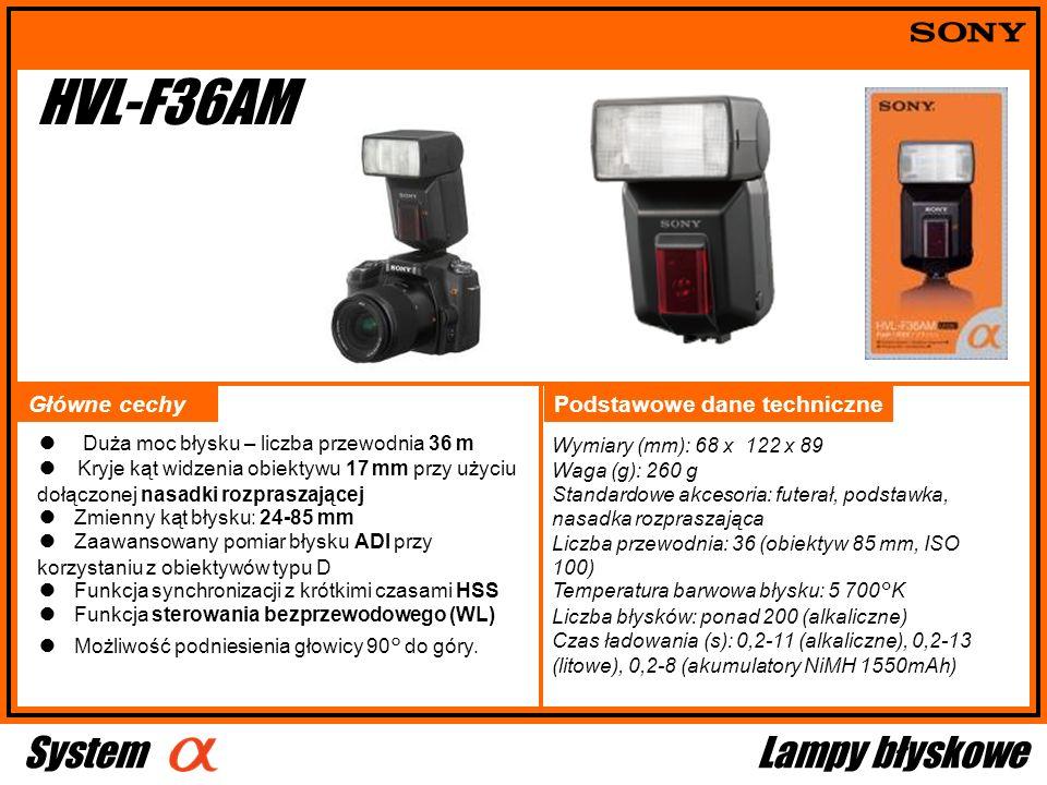 HVL-F36AM System Lampy błyskowe 立体的なカートン写真に Główne cechy