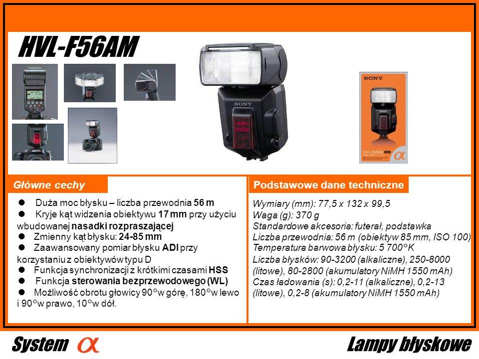 HVL-F56AM System Lampy błyskowe Główne cechy