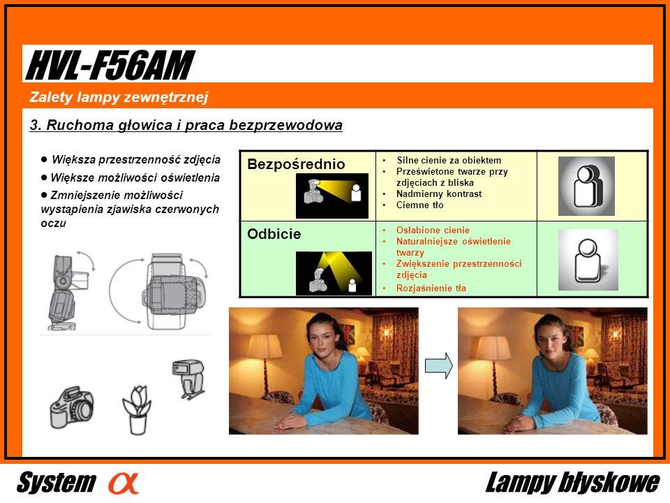 HVL-F56AM System Lampy błyskowe Bezpośrednio Zalety lampy zewnętrznej