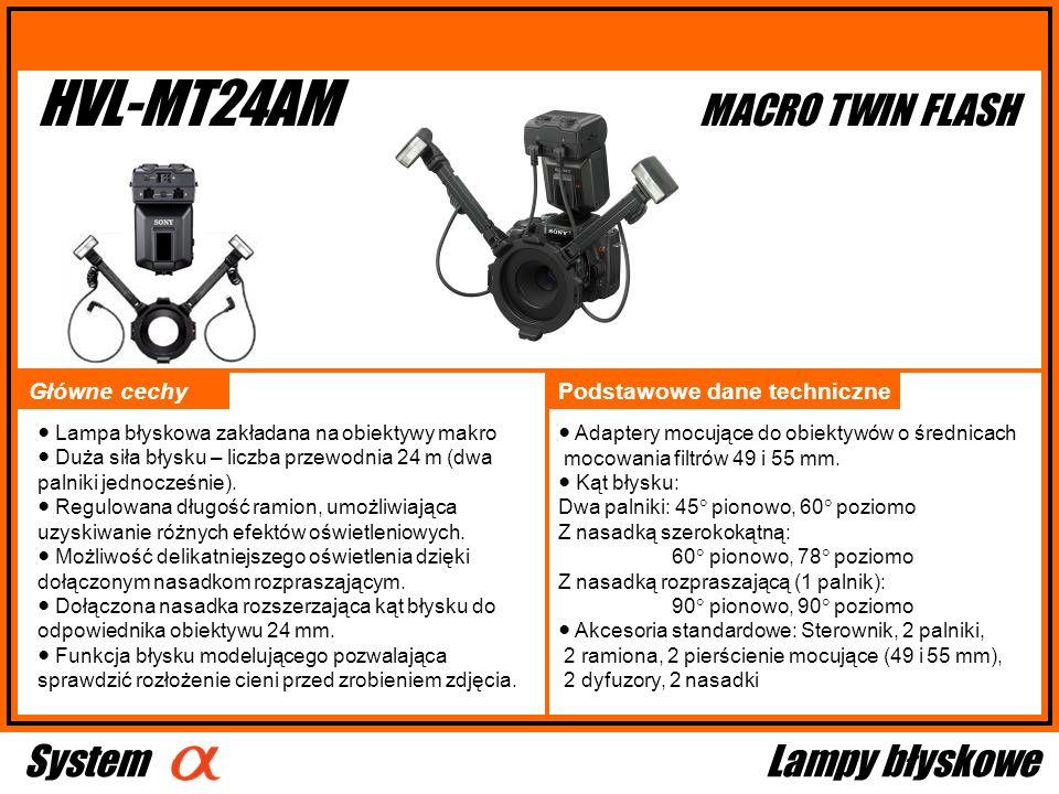 HVL-MT24AM MACRO TWIN FLASH System Lampy błyskowe Główne cechy