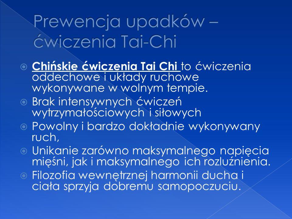 Prewencja upadków – ćwiczenia Tai-Chi