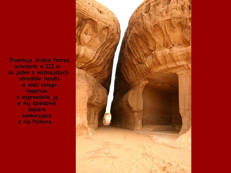 Prowincja Arabia Petrea za jeden z ważniejszych