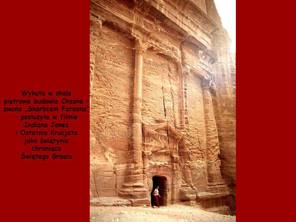 """piętrowa budowla Chazne – zwana """"Skarbcem Faraona"""
