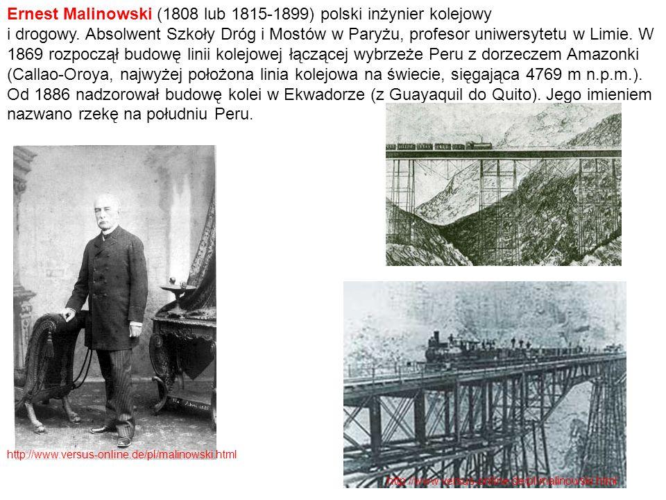 Ernest Malinowski (1808 lub 1815-1899) polski inżynier kolejowy