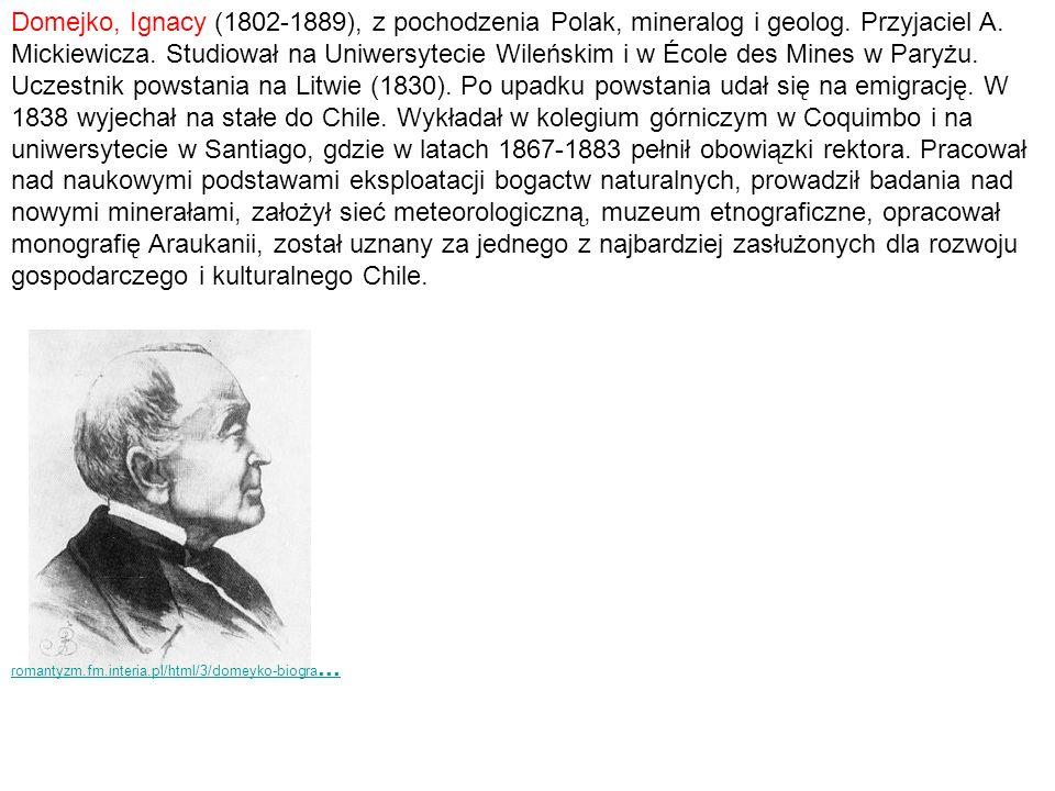 Domejko, Ignacy (1802-1889), z pochodzenia Polak, mineralog i geolog
