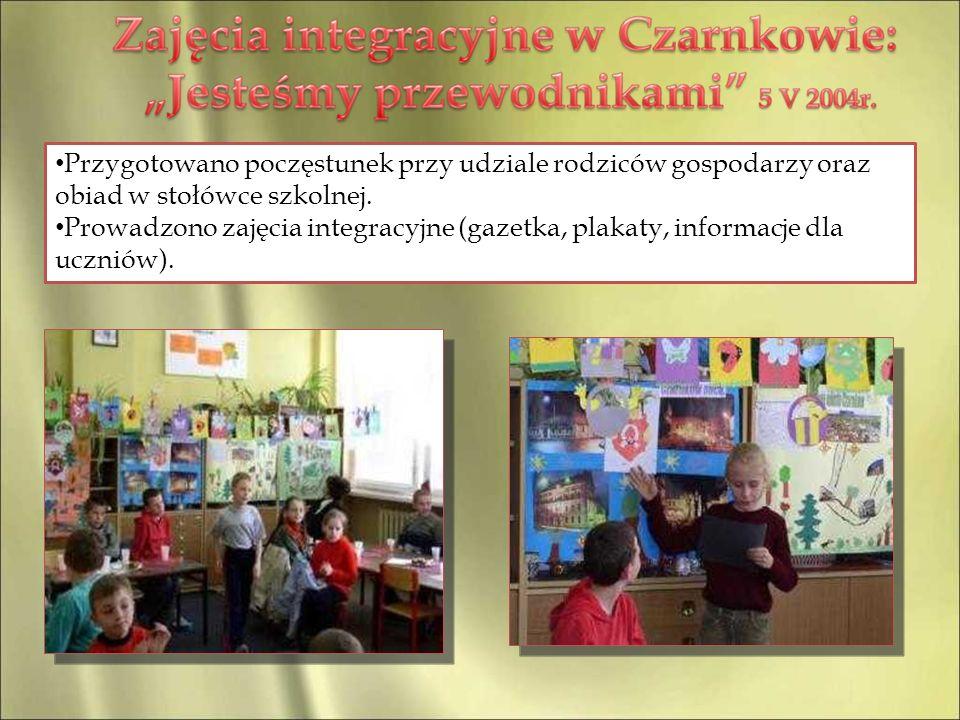 Przygotowano poczęstunek przy udziale rodziców gospodarzy oraz obiad w stołówce szkolnej.
