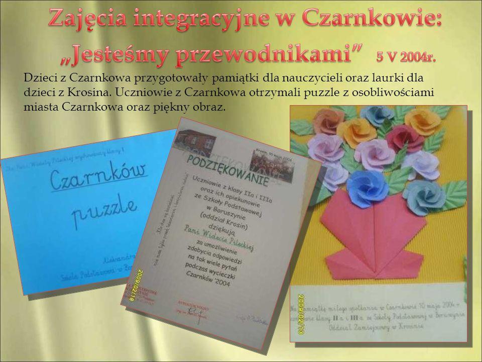Dzieci z Czarnkowa przygotowały pamiątki dla nauczycieli oraz laurki dla dzieci z Krosina.