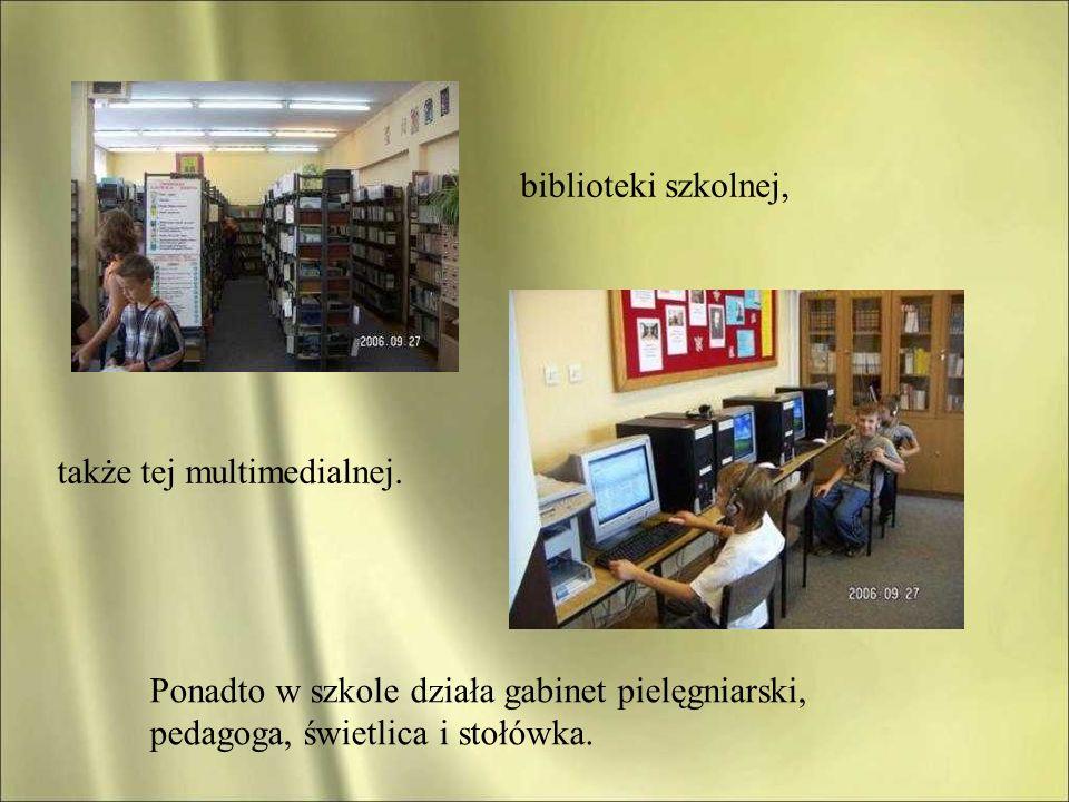biblioteki szkolnej, także tej multimedialnej.