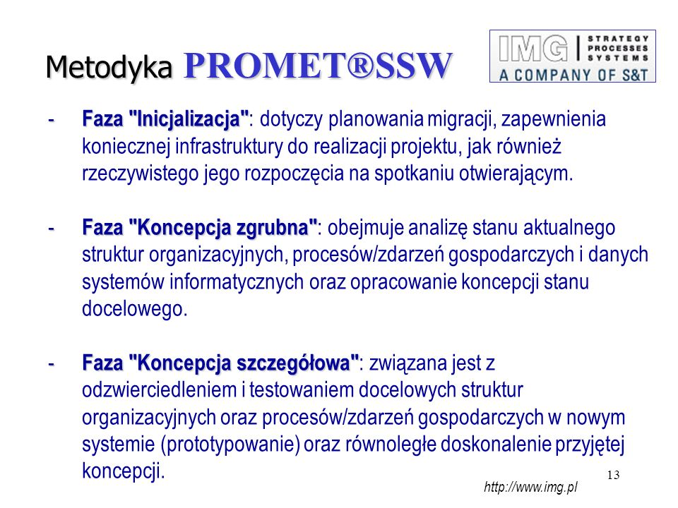 Metodyka PROMET®SSW