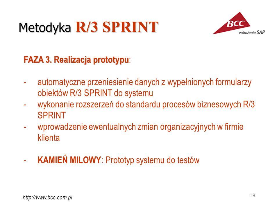 Metodyka R/3 SPRINT FAZA 3. Realizacja prototypu: