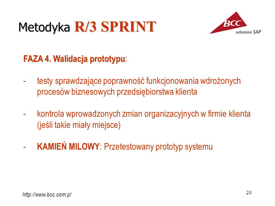 Metodyka R/3 SPRINT FAZA 4. Walidacja prototypu: