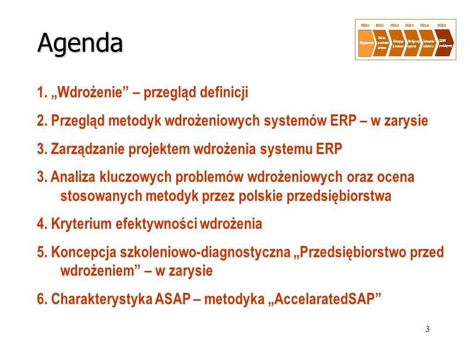 """Agenda 1. """"Wdrożenie – przegląd definicji"""