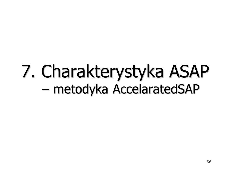 7. Charakterystyka ASAP – metodyka AccelaratedSAP