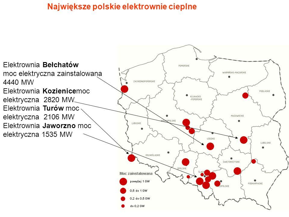 Największe polskie elektrownie cieplne