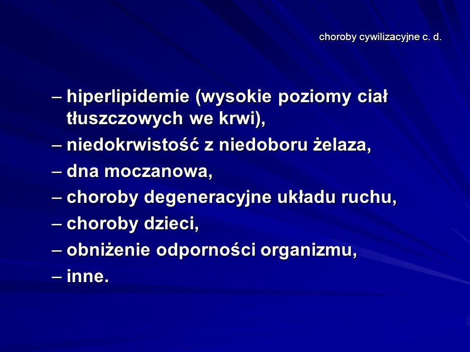 choroby cywilizacyjne c. d.